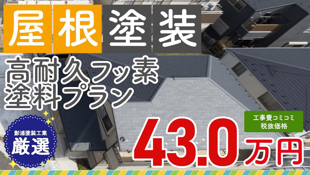 高耐久フッ素塗料塗装 税抜価格43.0万円