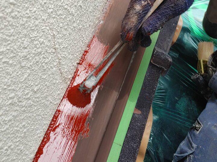 ④水切り下塗り工程