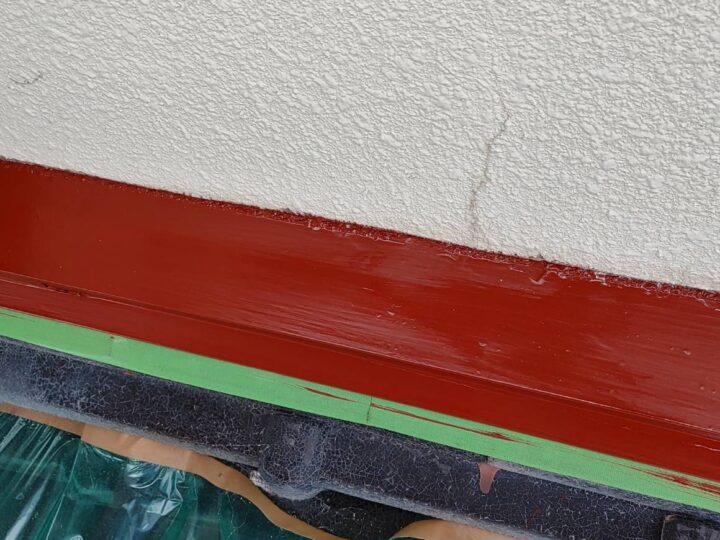 ⑤水切り下塗り完了